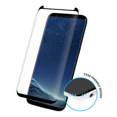 For Samsung Galaxy S9 Plus Full Curved 3D Tempered Glass Screen Protector -Black