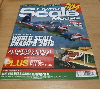 Flying Scale Models magazine NOV  2018 World Scale Champs, Albatros Opus & more