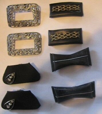 8 Vintage  Old  Shoe Clips  As Is Need Cleaned