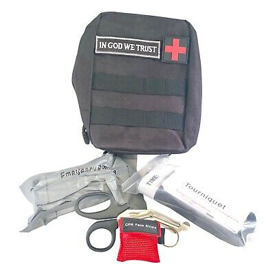Trauma Kit Active Shooter Molle Pouch Tourniquet CPR Mask Shears Israeli Bandage