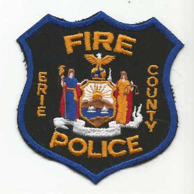 Erie County NEW YORK NY Fire Police patch OLD