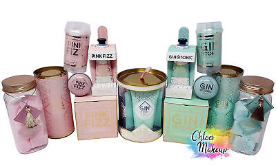 Gin or Prosecco Hand Cream / Candle/ Lip Balm / Bath Salts Christmas Gift Set
