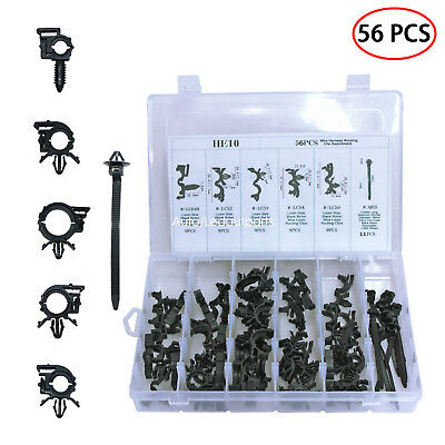 wire harness routing clip 56 pcs car clips assortment kit 6 different for  honda