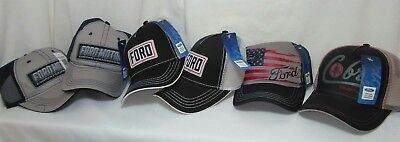 Lot Of 6 Ford Motor Car Auto Company & Mustang Baseball Hat Caps