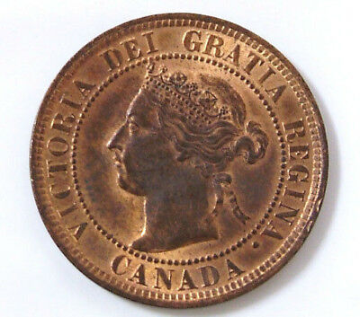 1900 H Gem BU Canadian Large Cent Queen Victoria Canada One Cent Coin