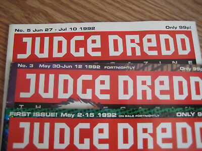 Judge Dredd Issues 1, 3 and 5