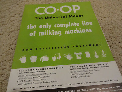 Vintage 1946 Co-op Universal Milker Dairy Equipment Brochure