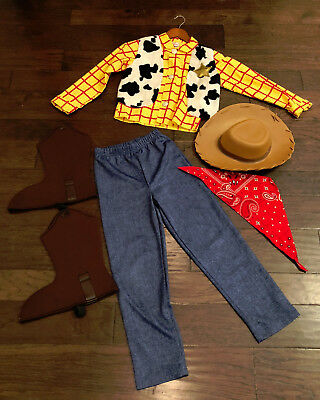 Disney Store Toy Story Woody Cowboy Halloween Costume including HAT, size 7/8