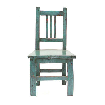 Teal Vintage Chinese Child's Chair