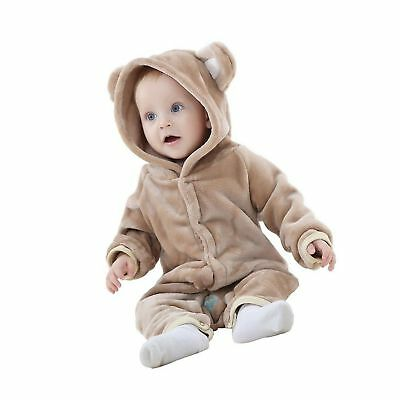 1e5cdc04bc78 MICHLEY BABY GIRLS Boys Romper Bear Style Jumpsuit Autumn   Winter ...
