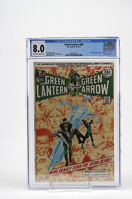 Dc Green Lantern Green Arrow #86 Comic Book Cgc 8.0 Anti Drug Story Concludes