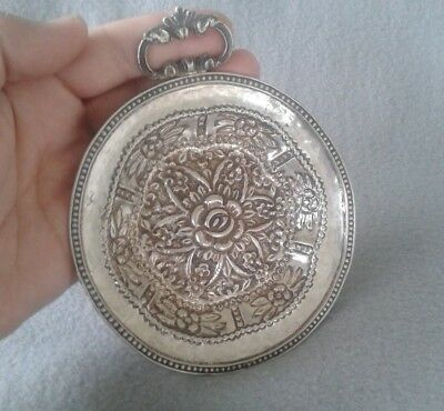 Exceptional 18th Century Fine Spanish Colonial Silver Handcrafted Footed Dish