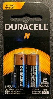 2 x N Duracell Alkaline Batteries LR1 E90 MN9100 1.5V Original Packaging- USA