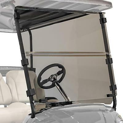 Tinted Folding Windshield  for Club Car Precedent 2004 Up Folding Golf Cart