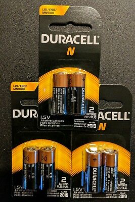 6 x N Duracell Alkaline Batteries LR1 E90 MN9100 1.5V Original Packaging- USA