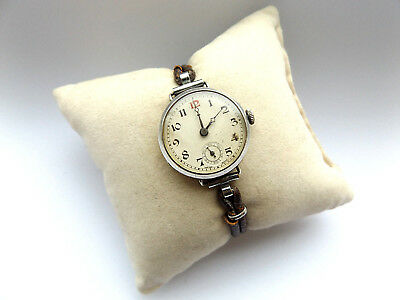 Lovely Vintage Ladies 925 Silver Hand Wind Swiss Made Wrist Watch, Not Working.