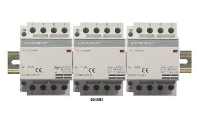 12 Pole Contactor 60Amp Lighting 120V Coil, 3x4 Set AC3 32AMP 40A 50A 30Amp DIN