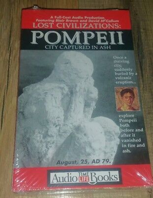 Lost Civilizations: Pompeii By Time-Life Books Full Cast Reader On Audio NEW