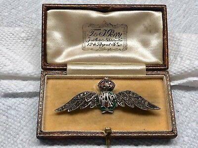 "World War 1-era Royal Air Force Wings - Gorgeous ""Sweetheart"" Pin"