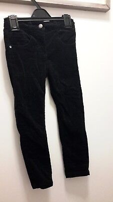girls 5-6 years black sparkly cord trousers