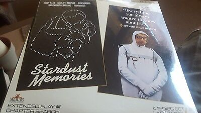 STARDUST MEMORIES / EVERYTHING WANT TO KNOW ABOUT SEX LaserDisc NEW IN SHRINK