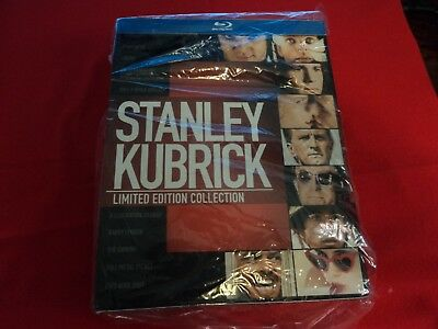STANLEY KUBRICK LIMITED EDITION COLLECTION Rare Blu-ray Set With Book  Like New