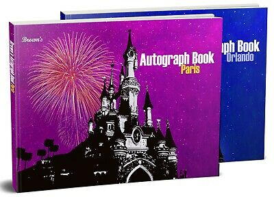 Personalised Disney Autograph Book Paris Orlando Florida World Disneyland Pink