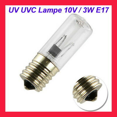 UV  UVC 3W Lampe  /  Aquael Sterilizer AS-3 W UVC Sterilisator  /  10V  E17