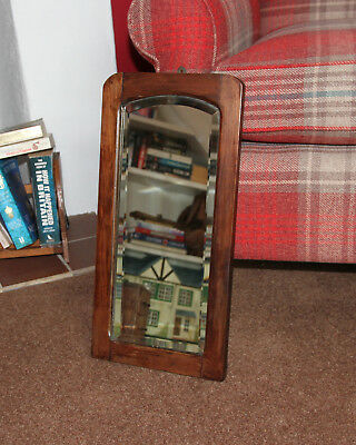 Mirror Antique Small Oak Framed Foxed - Unusual and rare small size