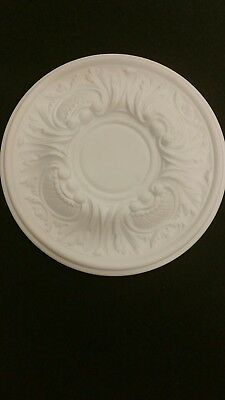 ceiling rose 300mm Plaster. .......On holiday till 29th oct