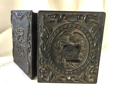 AMBROTYPE of a GENTLEMAN in a GUTTA PERCHA CASE Constitution And The LAWS. 1850s