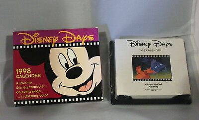Disney Days Desk Calendar 1998 Original Packaging Never Used