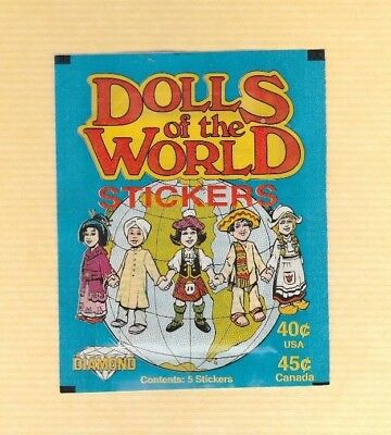 194  Vintage Diamond Dolls Of The World Stickers Unopened Pack