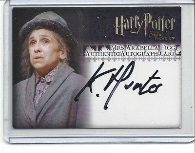 Harry Potter Character Autograph Kathryn Hunter As Arabella Figg Phoenix OOTP