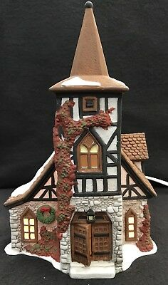 Department 56 Dickens Village Old Michael Church Lighted Christmas Decor 1992