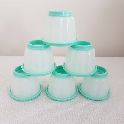 BRAND NEW Tupperware Jel-ettes  Small Jelly Moulds Jelettes Mint.