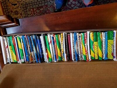 Lot of 45+ Unopened Old Vintage Baseball Cards in box full of  Wax Packs