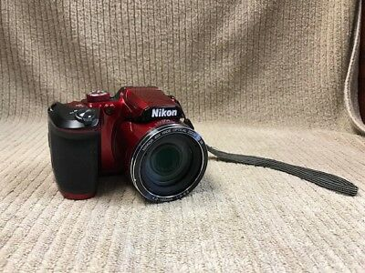 NIKON COOLPIX B500 16.0 MP DIGITAL CAMERA-RED GOOD CONDITION Ships Free!!