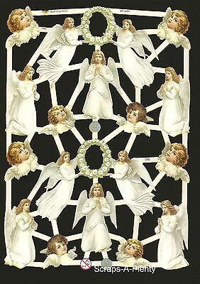 German Embossed Vintage Style Scrap Die Cut Relief-Christmas Easter Angel EF7382