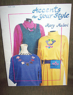 Pattern Book Accents For Your Style - Mary Mulari -  Softcover:-Vintage: 1991