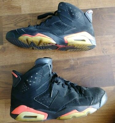 timeless design fbc62 a5e18 Nike Air Jordan Retro 6 Retro Black Infrared 23 Sz 10.5 384664 023