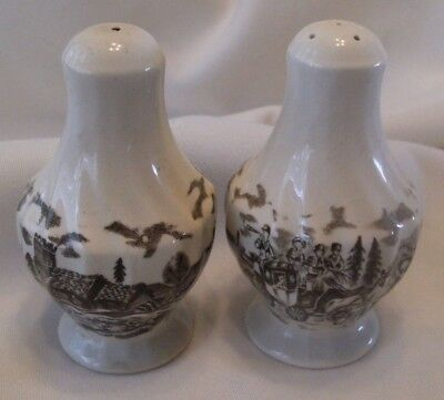 Myott's Brown Royal Mail Staffordshire Salt and Pepper Shakers, England