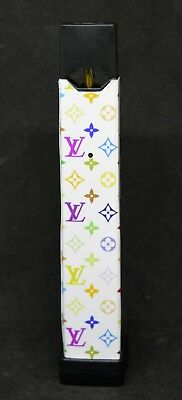 White LV With Multicolored Pattern Juul Wrap / Skin