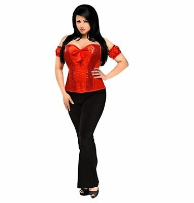 3ee78268f5 Daisy Corsets - Women s Top Drawer Sequin Molded Cup Corset - Red - Size  Medium