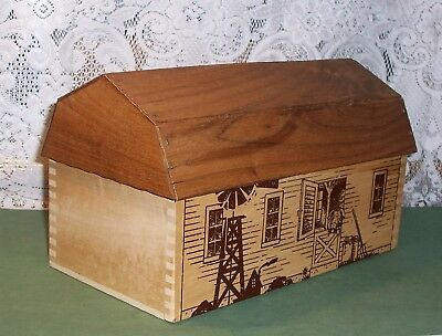 Rare Land O Lakes Wooden Barn Box - Extra NICE
