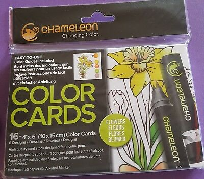 Chameleon Color Cards - Flowers 16 4x6in cards