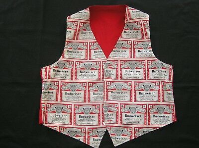 Vest Budweiser King Of Beers Anheuser Busch Inc Red White Black Reversible
