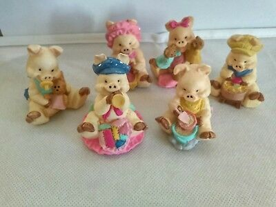 Vintage JC 94' Pig Figurines Collectible