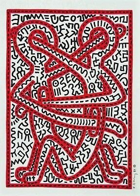 Keith Haring Original Hand Drawn * Holy Men * Marker On Paper With Signature