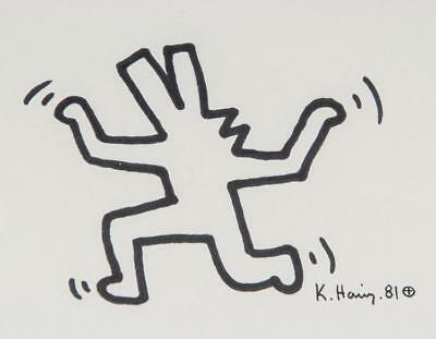 """KEITH HARING, """"UNTITLED"""" (12 Famous Pictures). Hand SIgned by Haring ..."""
